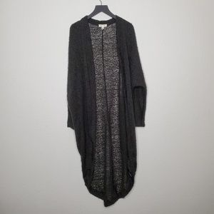 Silence + Noise Cocoon Wrap Knit Cardigan in Black